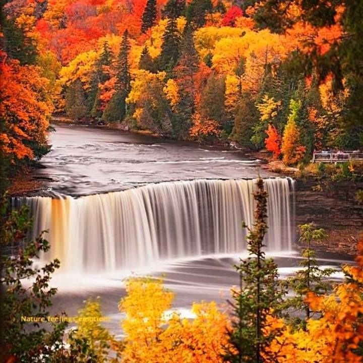 Tahquamenon Falls Michigan Winter Wallpaper Waterfall In Autumn I Miss The Pennsylvania Countryside