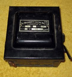 vintage wadsworth electric mfg co covington ky 30 amp fuse box wadsworth [ 1000 x 905 Pixel ]