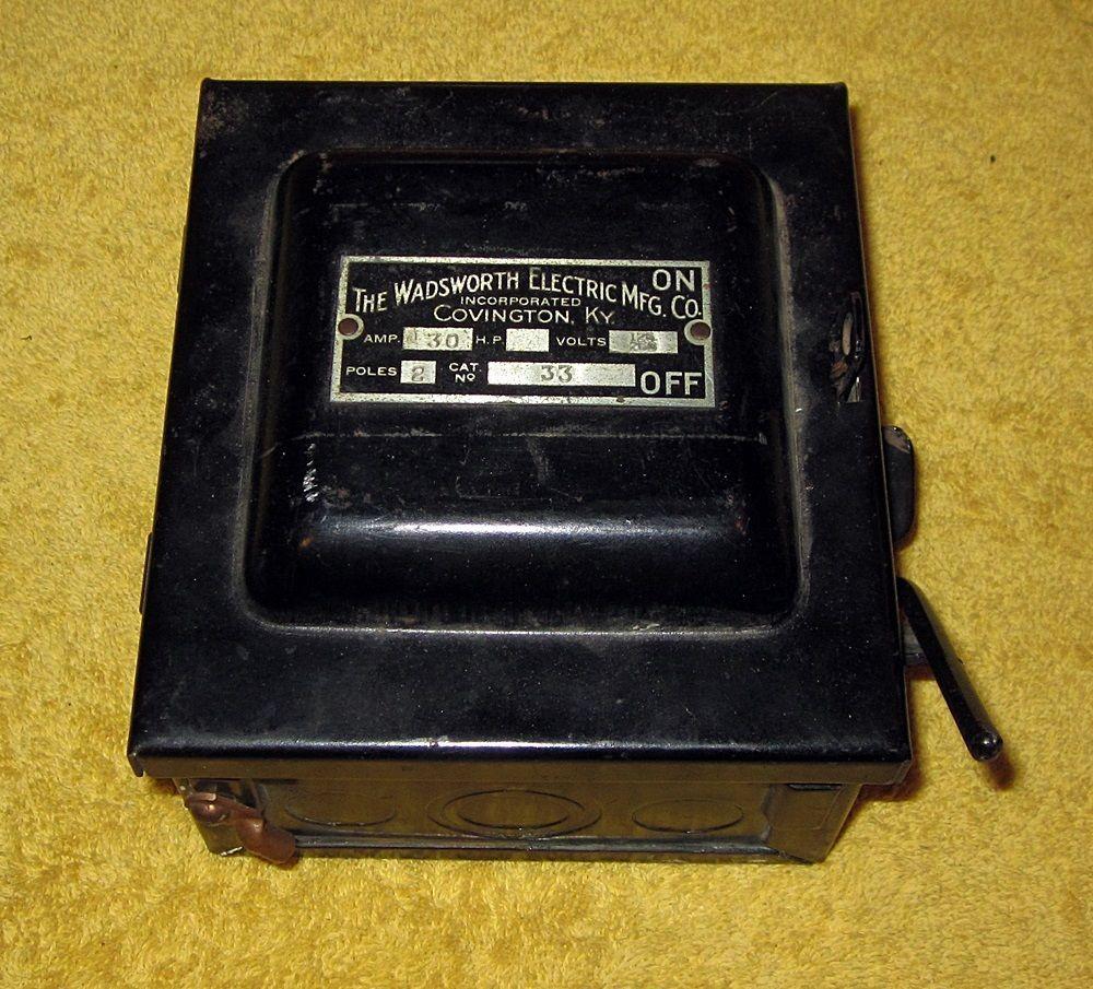 medium resolution of vintage wadsworth electric mfg co covington ky 30 amp fuse box wadsworth