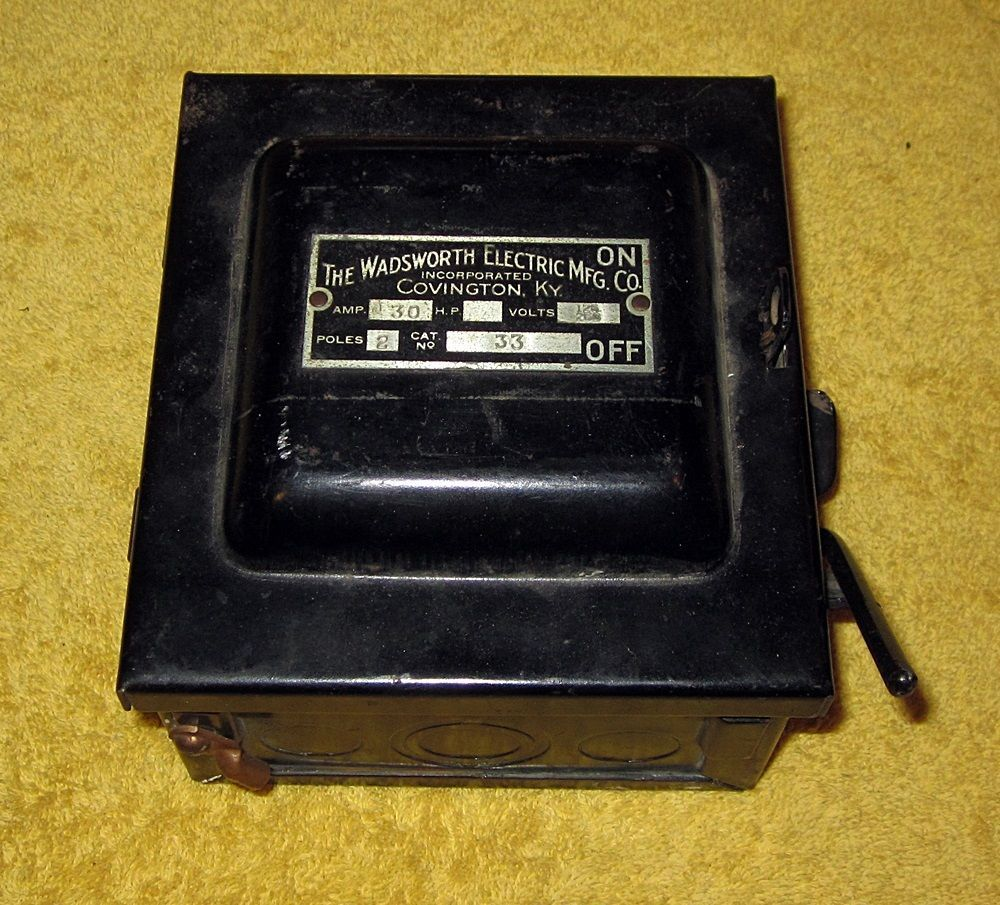 hight resolution of vintage wadsworth electric mfg co covington ky 30 amp fuse box wadsworth