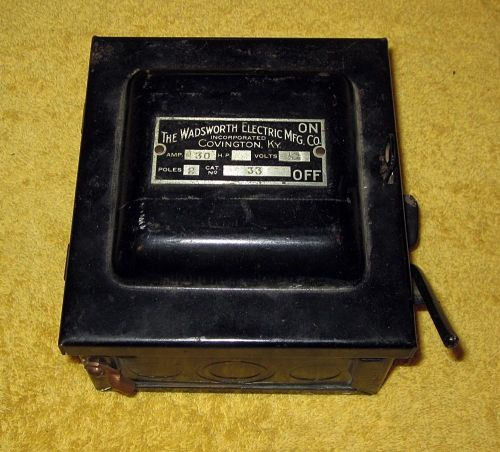 small resolution of vintage wadsworth electric mfg co covington ky 30 amp fuse box wadsworth