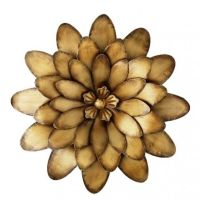 large metal flower wall art | bronze flower metal wall art ...