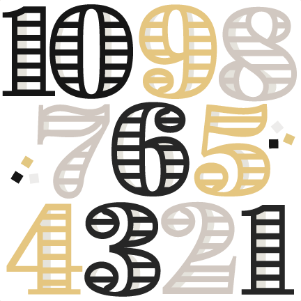 Download New Year Numbers svg cutting files for scrapbooking cute ...