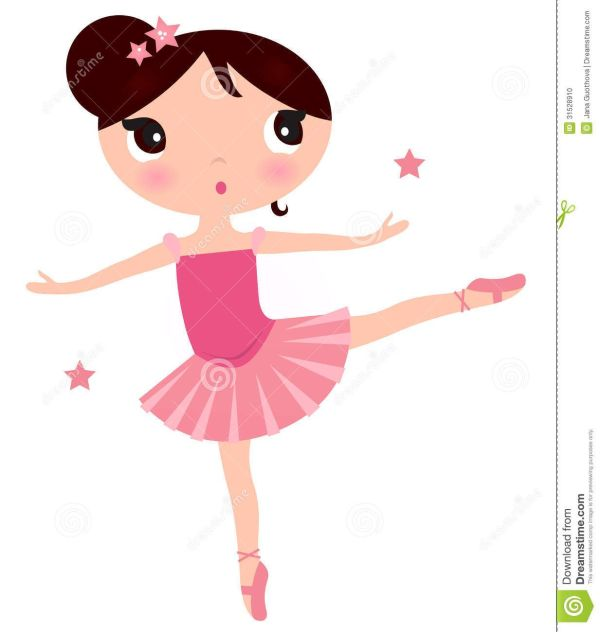 Printable Cute Ballerina Clip Art Beautiful Little