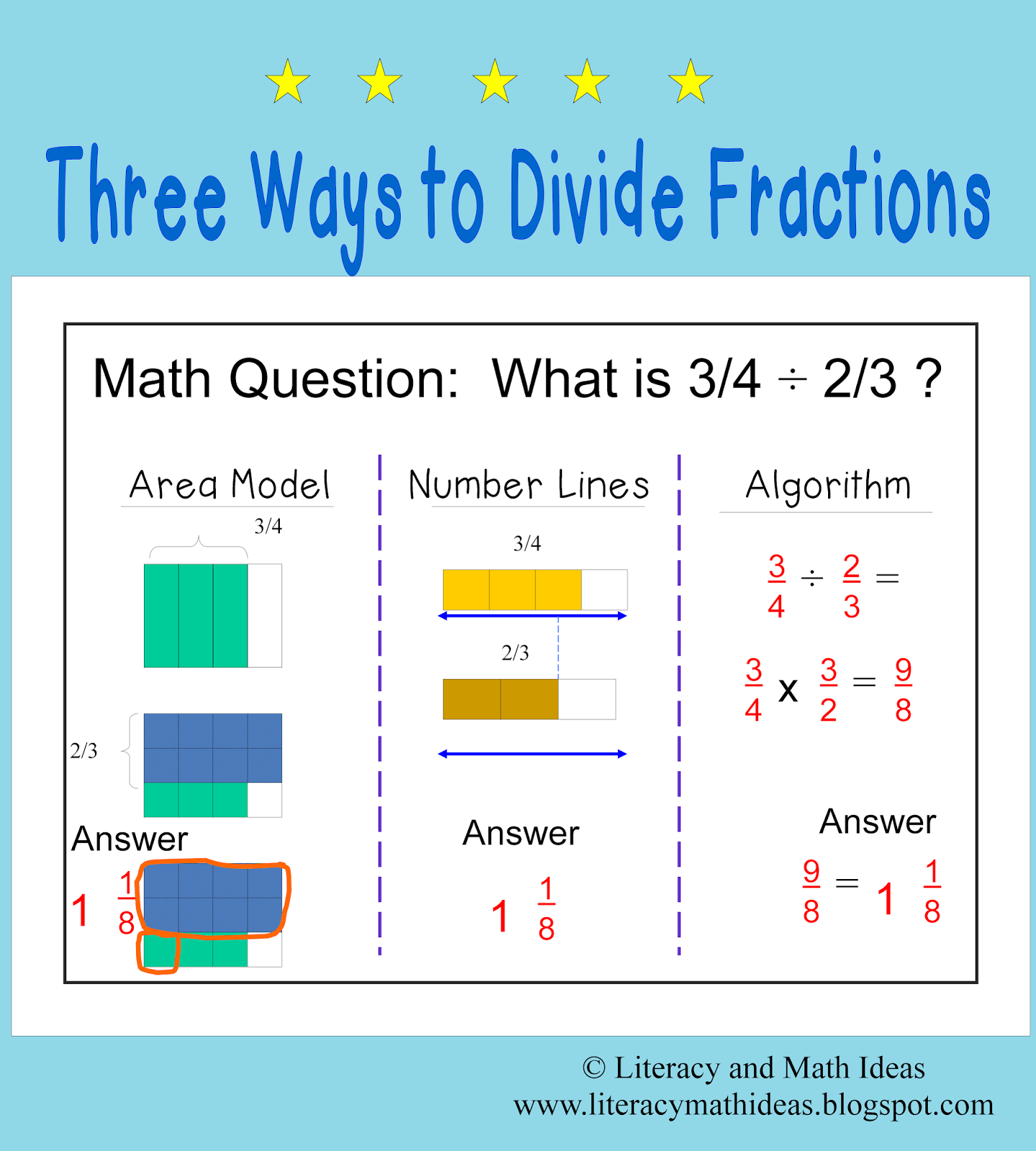 Dividing Fractions Worksheet With Example