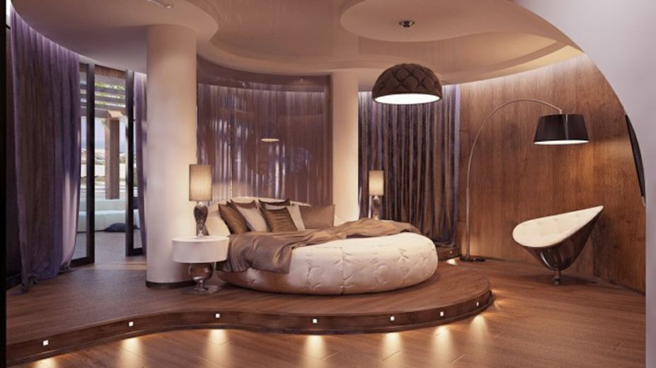 Unique Bedroom Design For Couple With Nice Lighting Ideas