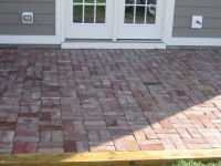 Replacing concrete patio with brick in double basket weave