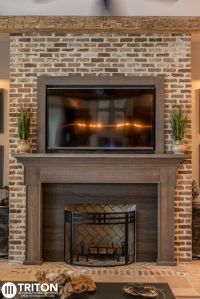 Reclaimed Brick: Fireplace Also provided: Reclaimed beams