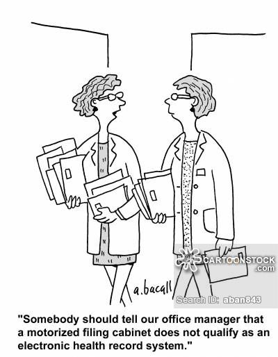 Electronic Health Records cartoons, Electronic Health