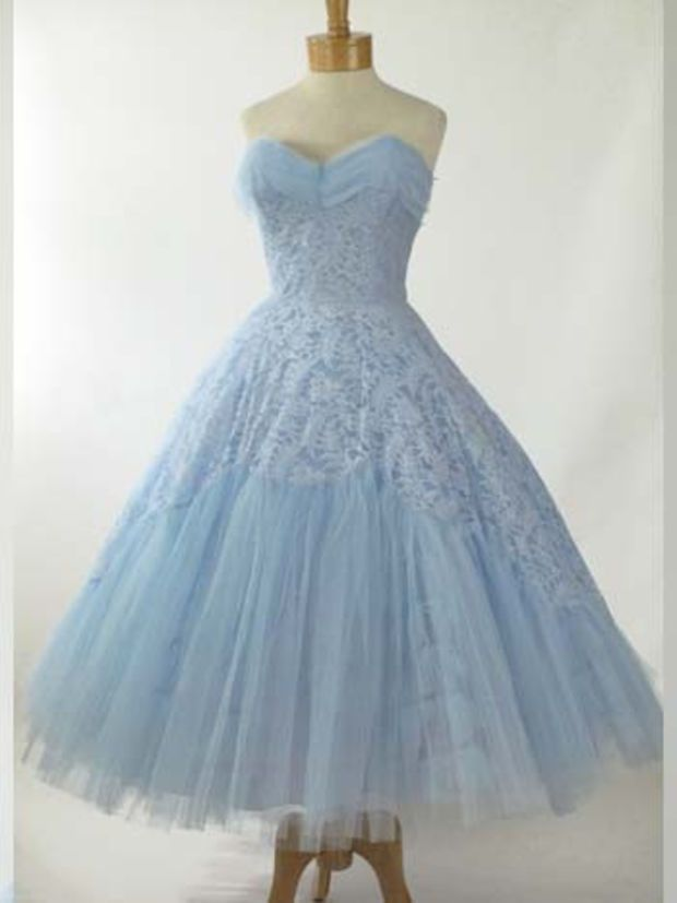 Retro Vintage Style 50s Tea Length Bridesmaid Prom Party