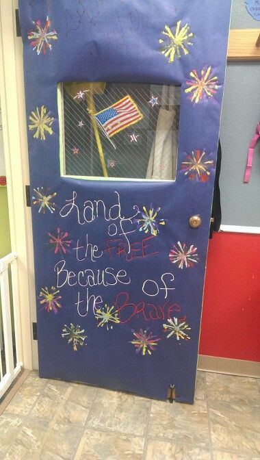 Fourth of July classroom door