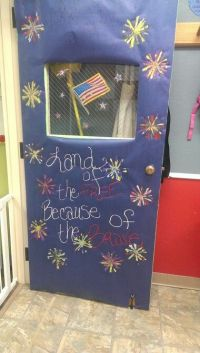 Fourth of July classroom door | July Classroom | Pinterest ...