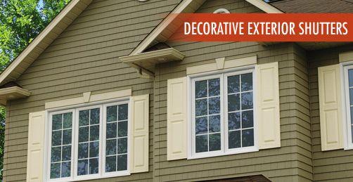 exterior window trim ideas with shutters precious decorative exterior shutters