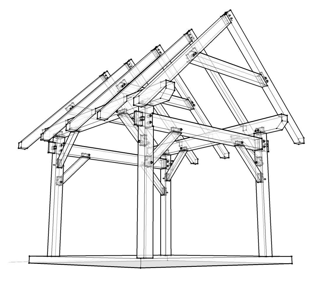 12x12 Timber Frame Plan