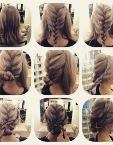 Fashionable braid hairstyle for shoulder length hair also best images about girls  on pinterest her kind of rh