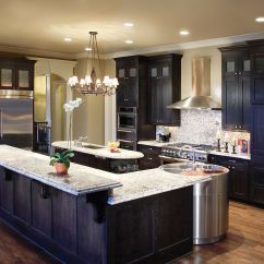 Black Kitchen Countertops Refacing Thermofoil Cabinets White