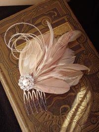 Wedding Fascinator, Bridal Head Piece, Feather Fascinator