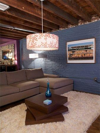 Ideas for a Budget Basement on Pinterest  Unfinished Basements Basements and Concrete Floors