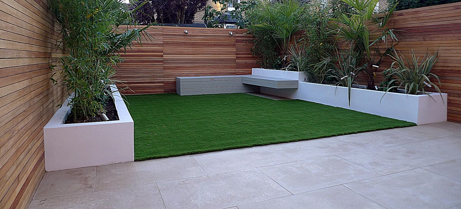 Modern Garden Design Raised Beds Hardwood Privacy Screen Ceadr