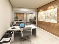 White Themed Cool Home Office Design with Contemporary ...