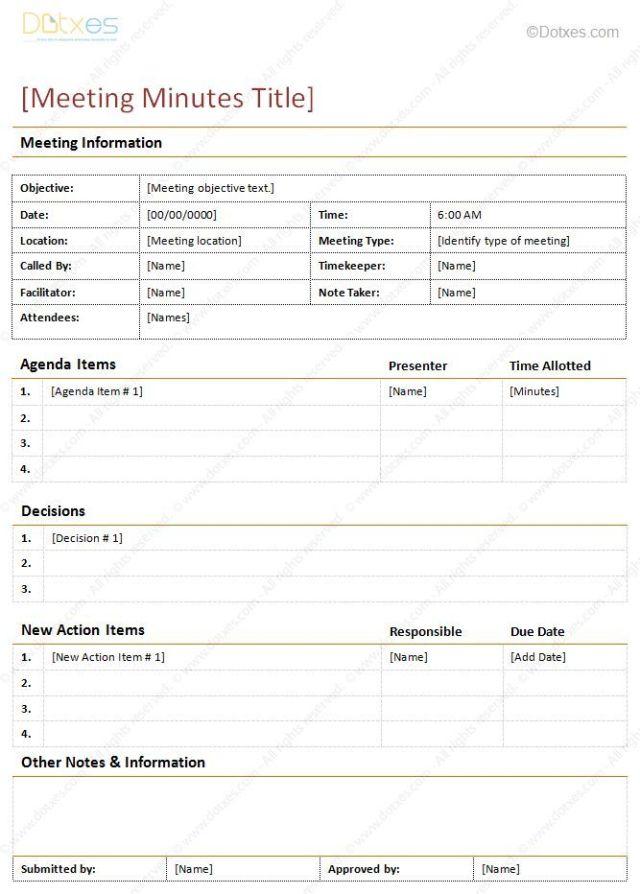 Llc meeting minutes template free download altavistaventures Image collections