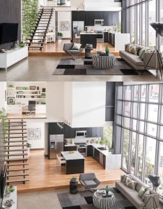 Many people think of dark spaces when they hear the description  cloft   well these four duplex lofts are anything but with massive windows and also http ampmglassllc casas pinterest natural light rh