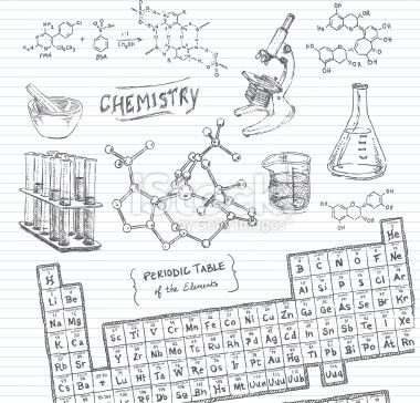 Chemistry Doodle Sketches Royalty Free Stock Vector Art