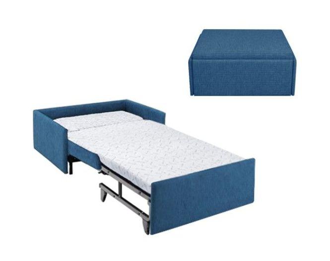 Zara Ottoman Bed Folding Tall People Compact Sofa
