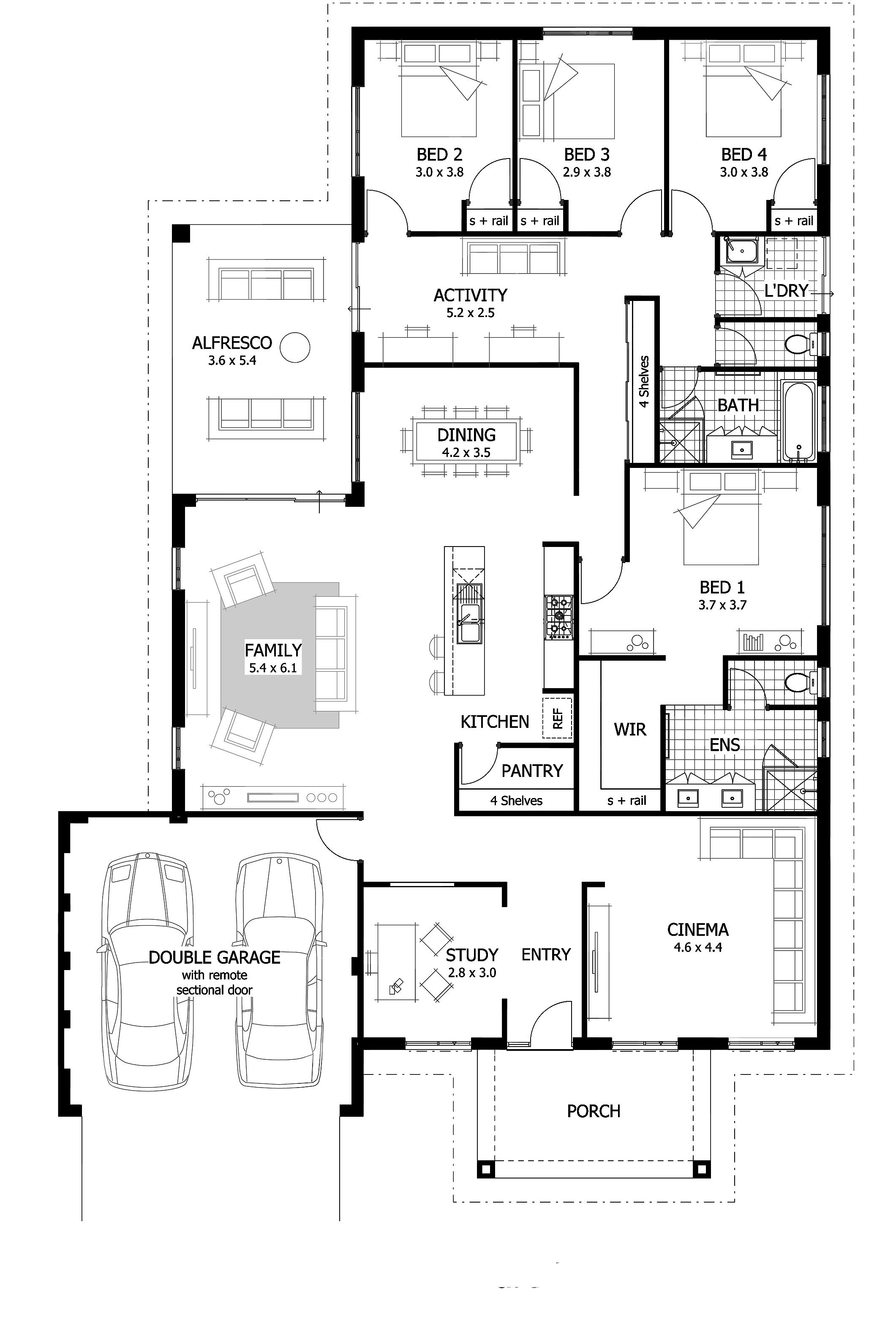 2 Bedroom House Plans With Open Floor Plan Australia
