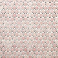 Rose Pink Penny Round Porcelain Mosaic - (Pack of 10 ...