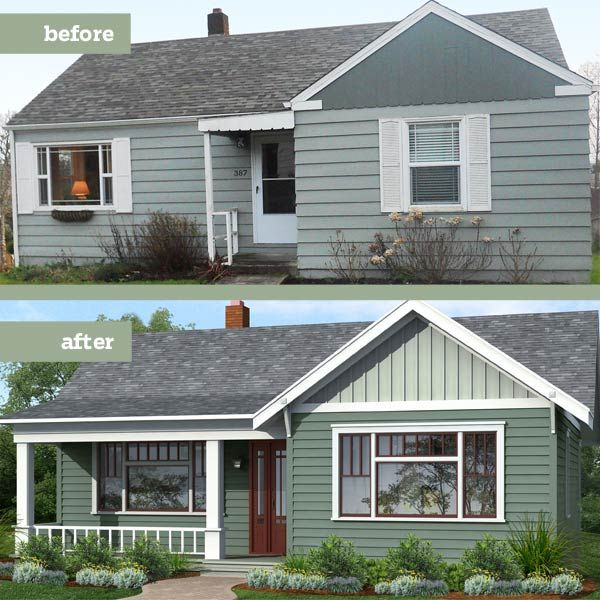 Small House Before And After Great Exterior Renovation Future