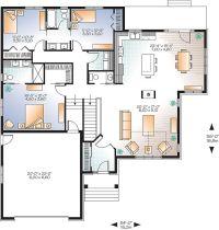 Plan 22423DR: Open Floor Plan Craftsman House | Open floor ...