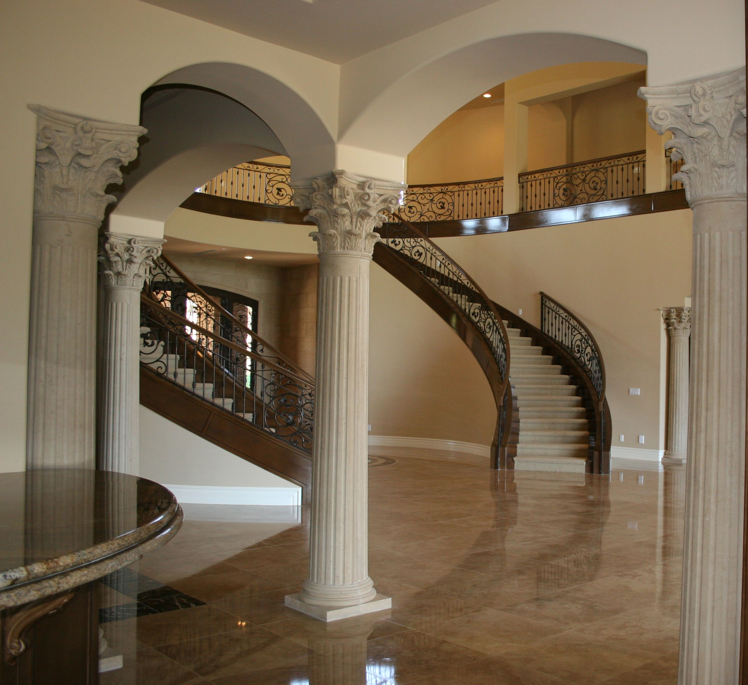 House Interior Column Designs #stairs Pinned By Modlar Com