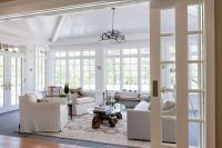 Vaulted ceiling sunroom | Tandem pocket wall doors that ...