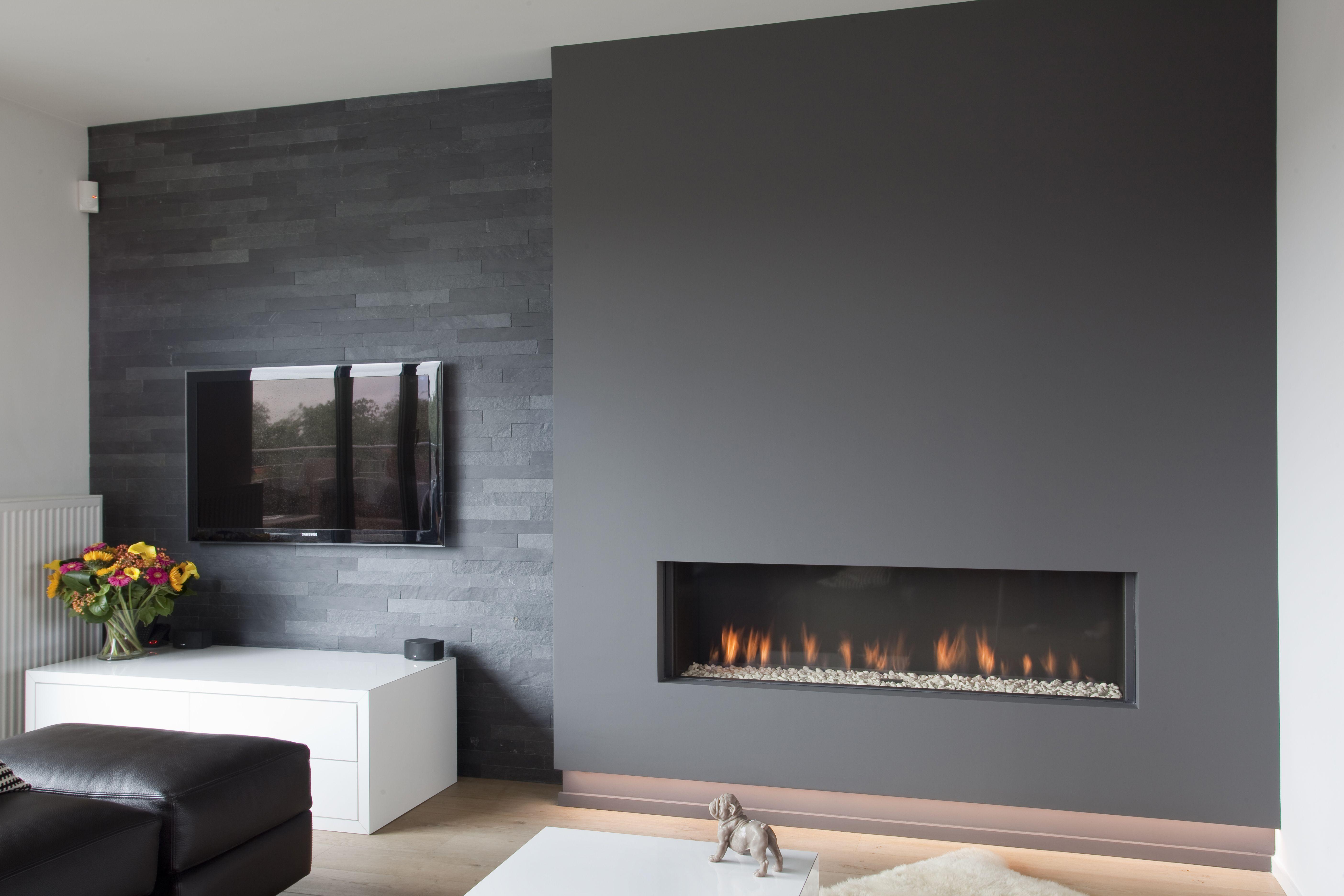 Gashaard In Moderne Wand Amp Televisiewand Bekleed Met