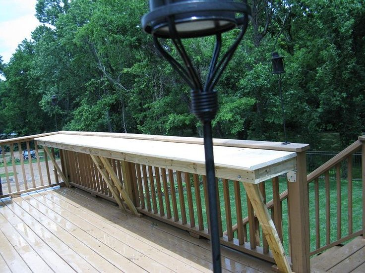 "Future House Idea Putting A Bar Rail On The Deck For Extra ""table"