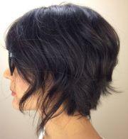 choppy uneven layered hair