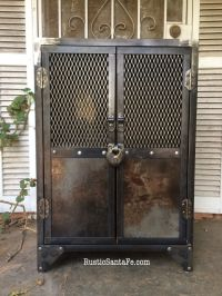 Industrial steel locking liquor cabinet, industrial