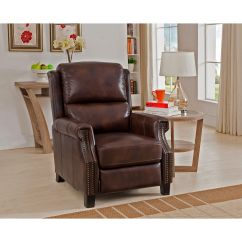 Overstock Com Chairs Nail Salon With Kid Rivington Brown Premium Top Grain Leather Recliner Chair