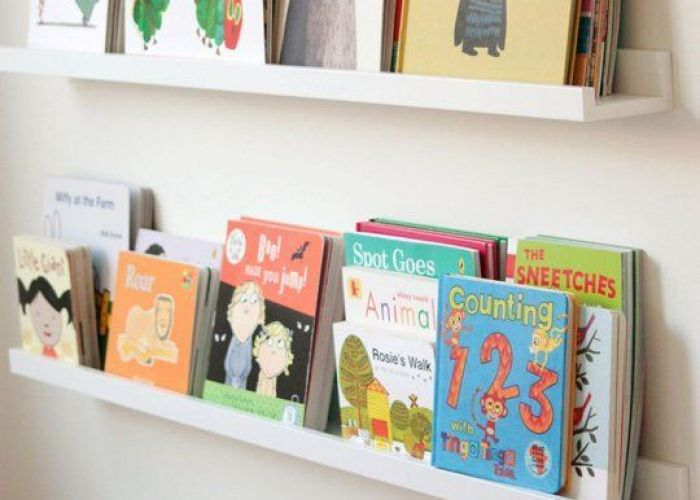 ways to use ikea ribba picture ledges all over the house kids book shelvesbookshelf also
