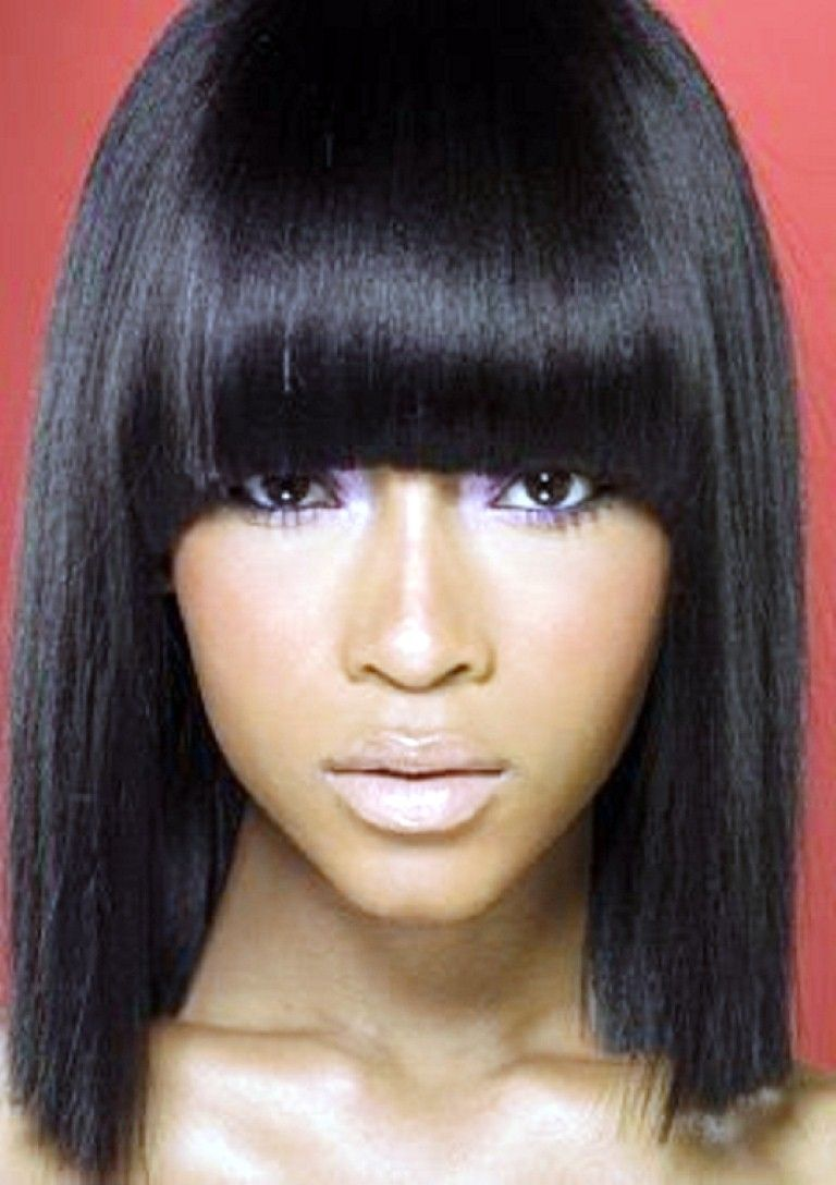 Straight Weave Hairstyles With Side Bangs Protective Styles