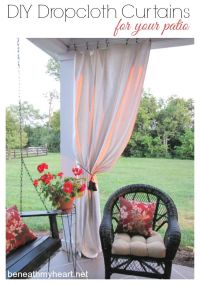 Drop Cloth Curtains for my Patio | Drop cloth curtains ...