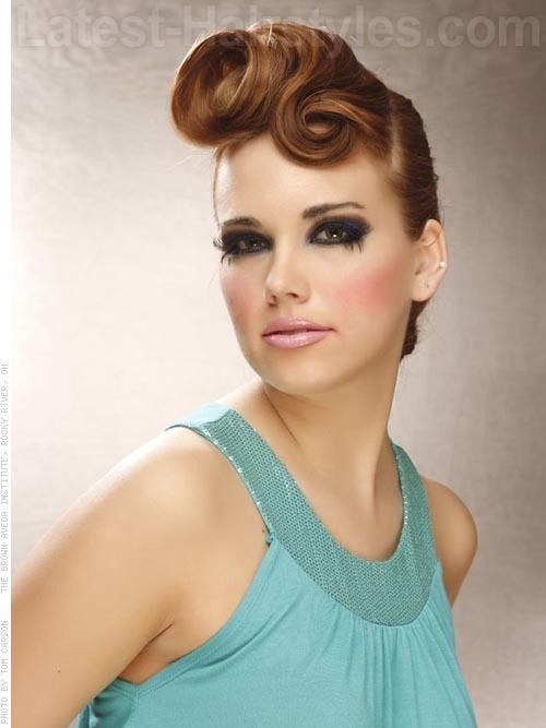 ROCKABILLY ROLL Take A Ponytail To A Whole New Level By Adding A