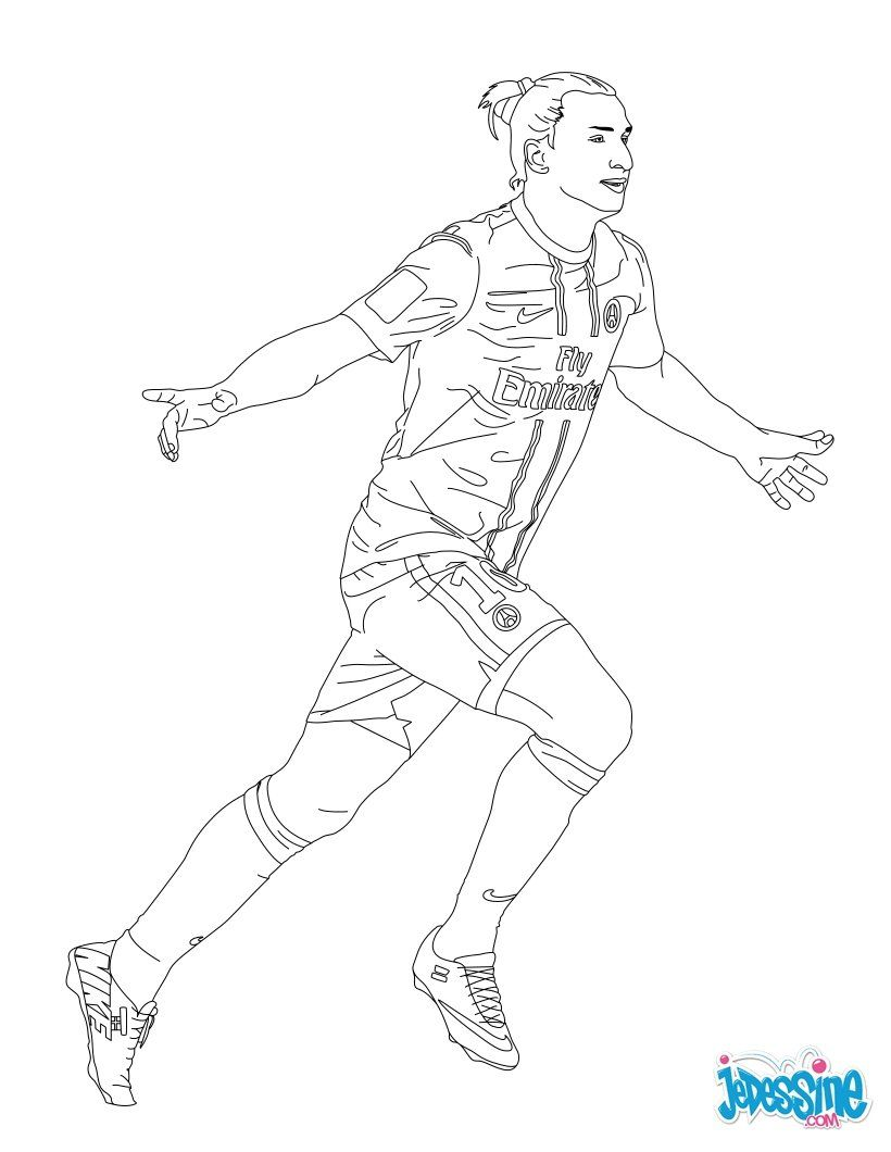 Coloriage Du Joueur De Foot Zlatan Ibrahimovik Imprimer Gratuitement Ou Colorier En Ligne Sur