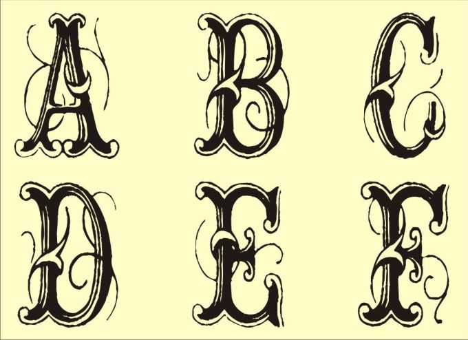 Large fancy letter templates textpoems free monogram templates stencils printable spiritdancerdesigns Gallery