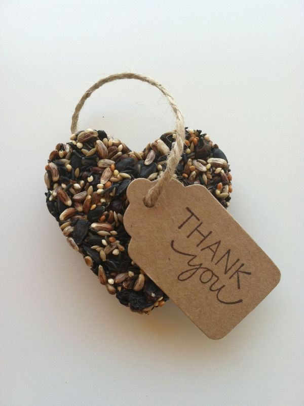 Bird Seed Ornament Wedding Favors Favours