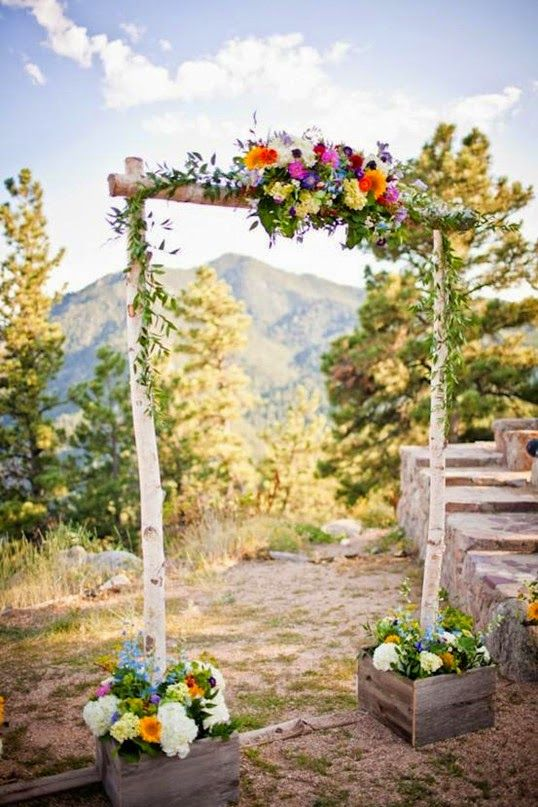 Diy Rustic Garden Wedding Gate Decorations For Spring Wedding