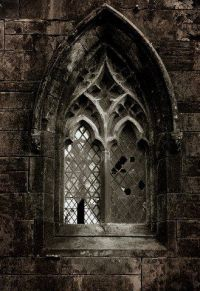 Gothic style window. Predating both the Baroque and ...