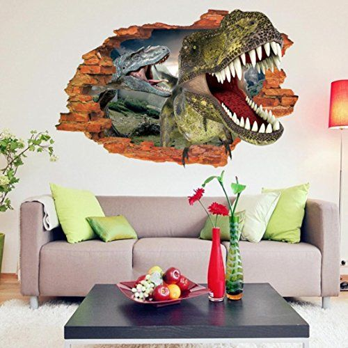 Iusun creative  dinosaur wall sticker art decal home decor check out the image also rh pinterest