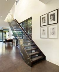 modern staircase with open glass panel side | STAIRCASES ...